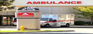 Ambulance in front of Emergency Room